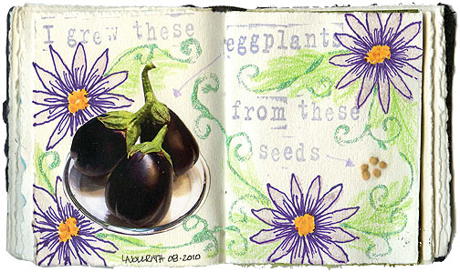 The smallest art journal I've worked in was barely 3 inches tall.
