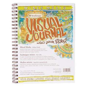 Strathmore's Visual Journals are popular with art journalists. They're available filled with watercolor paper or mixed media paper on Amazon.com.