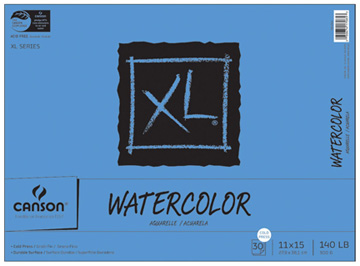 My favorite watercolor paper is Canson XL 140lb. It's .