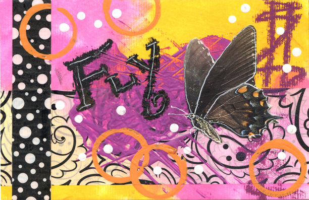 The First Mixed Media Club Postcard Swap