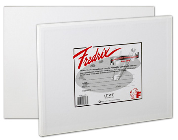 Fredrix canvas panels are available in assorted sizes on Amazon.com.