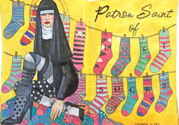 Patron Saint of Lost Socks