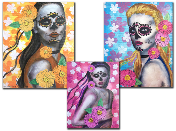 Three Day of the Dead Portraits