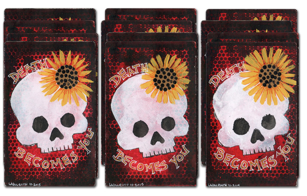 12 Stenciled Skull Stickers