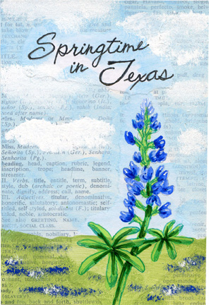 Springtime in Texas Postcards
