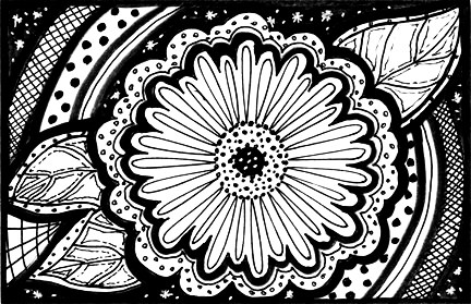 Black & White Postcard Swap