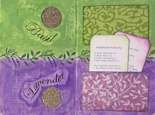 Altered Book Pages With Round Niches
