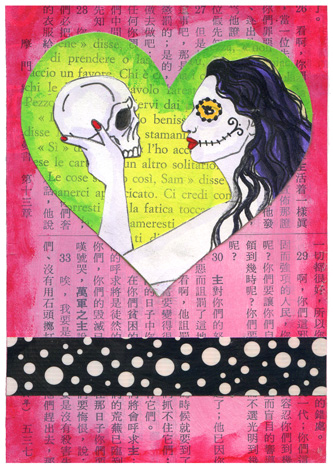 Skull & Heart Postcards