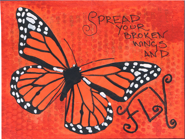 Spread Your Broken Wings Mini Journal Pages