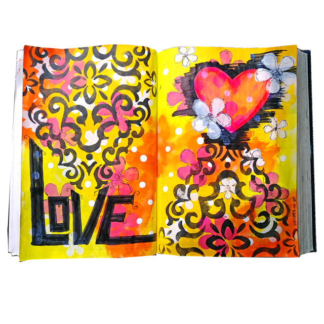 Love Altered Book Pages