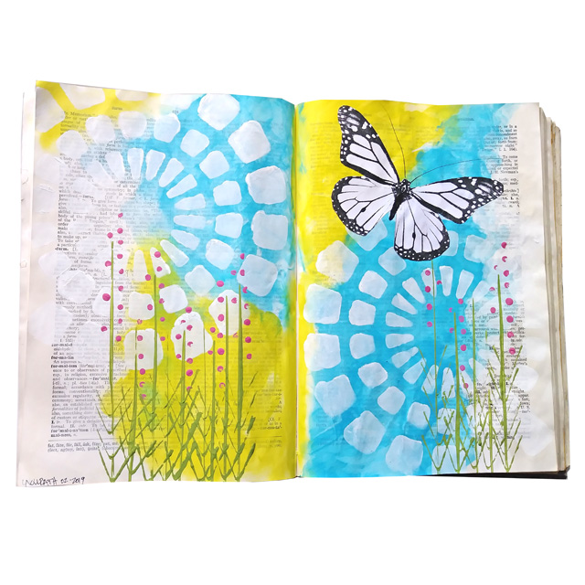 Butterfly Altered Book Pages