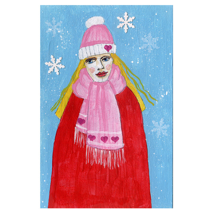 Winter Figures Postcards