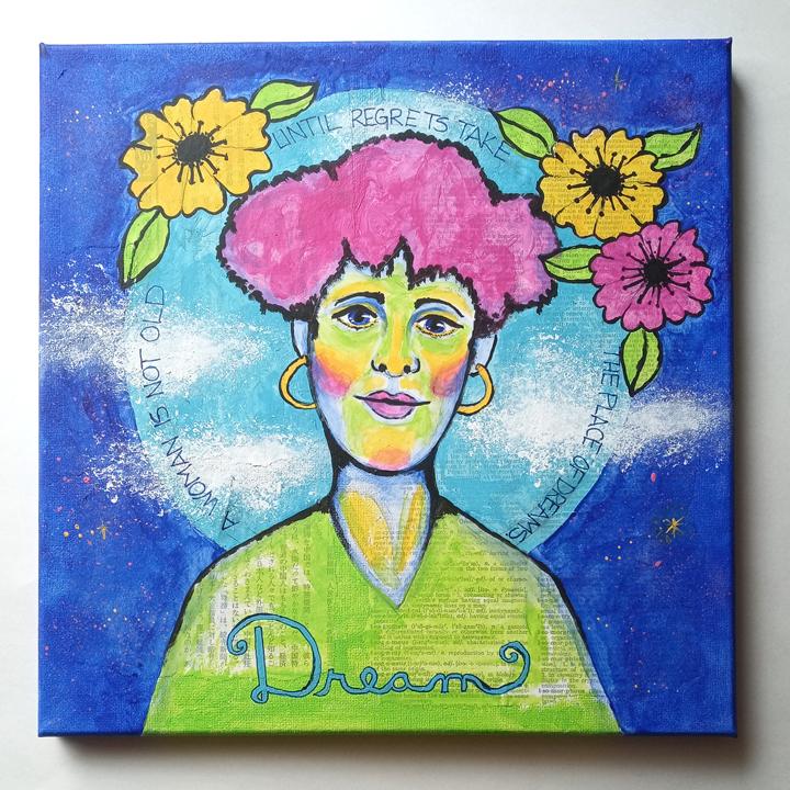 Dream Mixed Media Canvas