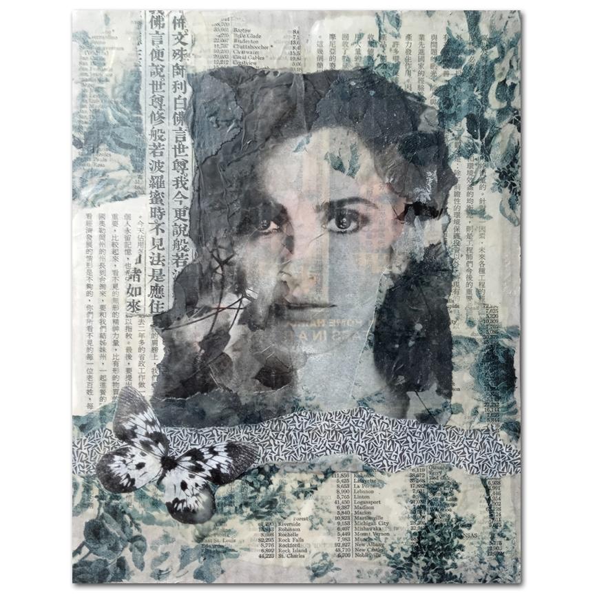 Black & White Wax Collage