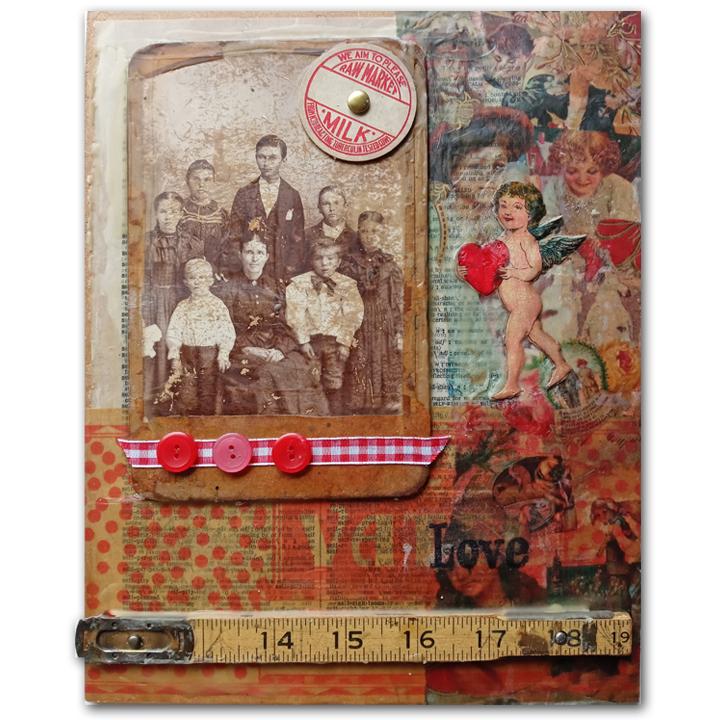 Vintage Love Wax Collage